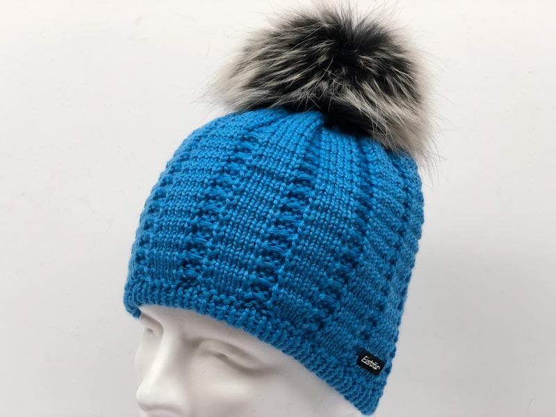 4e4b49d3c68 Heather Fur Blue Hat 80017-026. Was  144.99 now  71.99