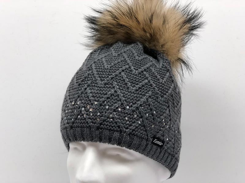 a9be6fa4ed1 Isabella Fur Crystal Dark Grey Hat 30378-007  139.99