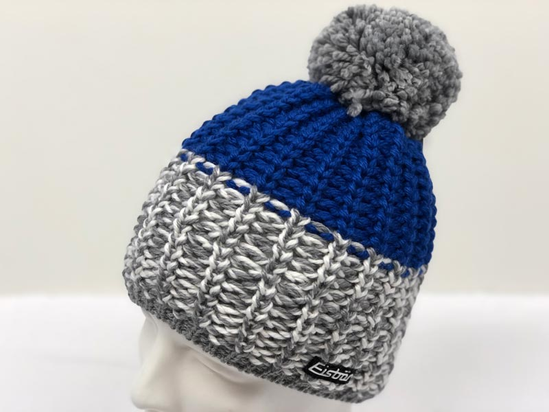 9fb6ca32757 Focus Pompon Blue Hat 3128-291