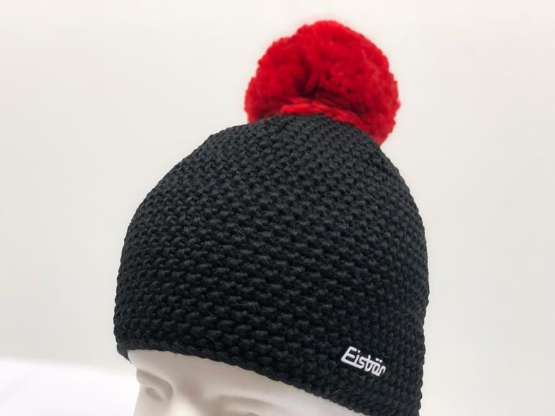 70564cc9ee2 Jamie Pompon Black with Red Pompon Hat 30190-309