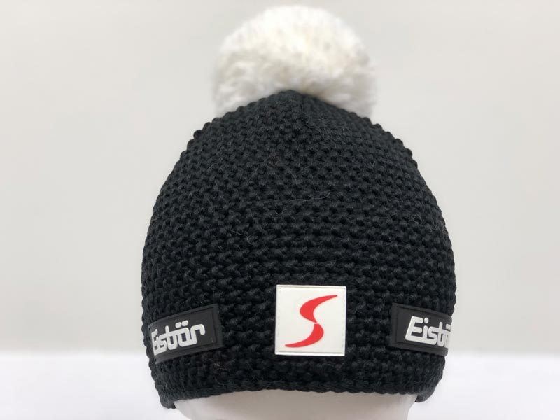 e827634e80b Jamie Pompon Black with White Pompon Hat SP 33013-109
